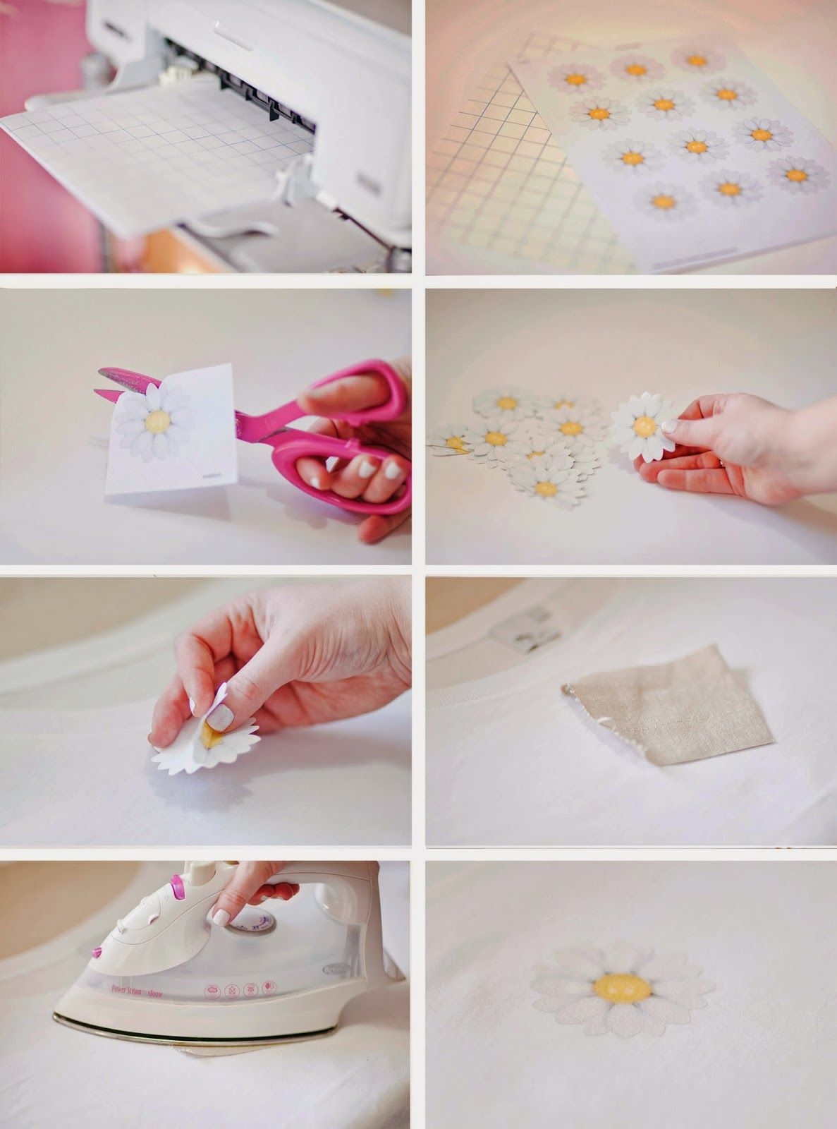 Make it: Daisy Print T-shirt DIY & Free Printable | Free printable ...