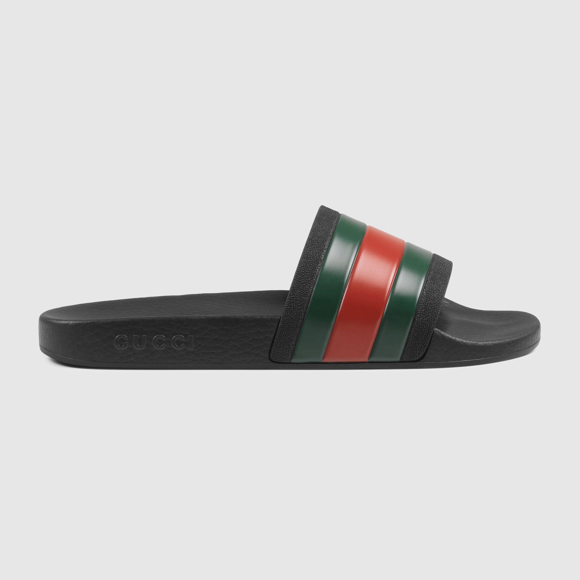 4ba9075fb Rubber slide sandal | Honey moon | Slide sandals, Sandals, Gucci ...