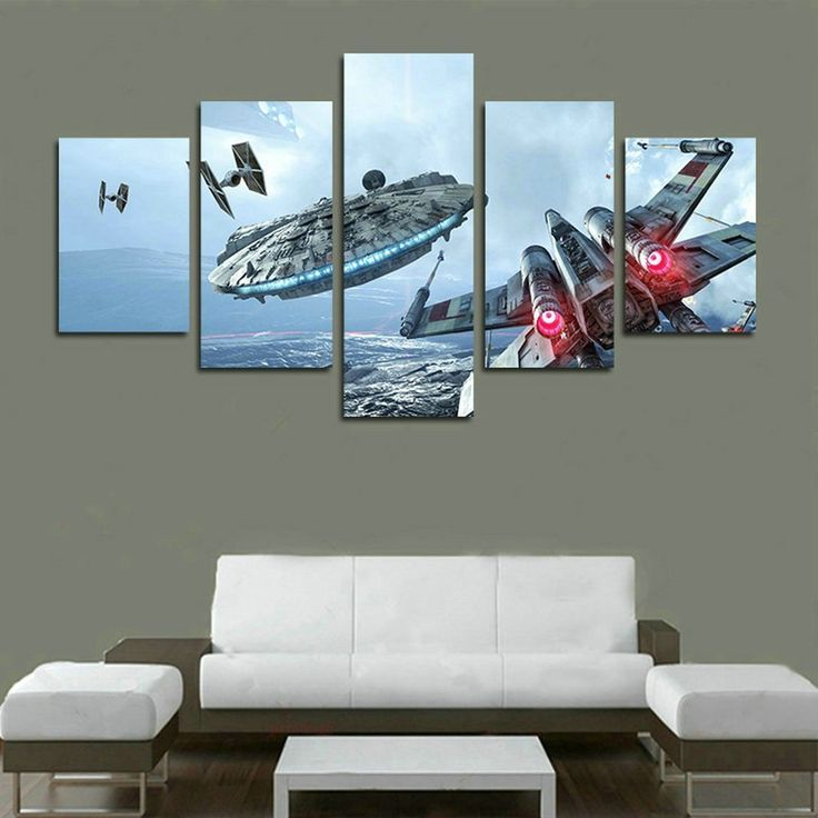 millennium falcon x flugel leinwand art star wars print poster dekoration 5 teiliges wandbild m coole wanddekoration geschenke my foto auf ohne rahmen