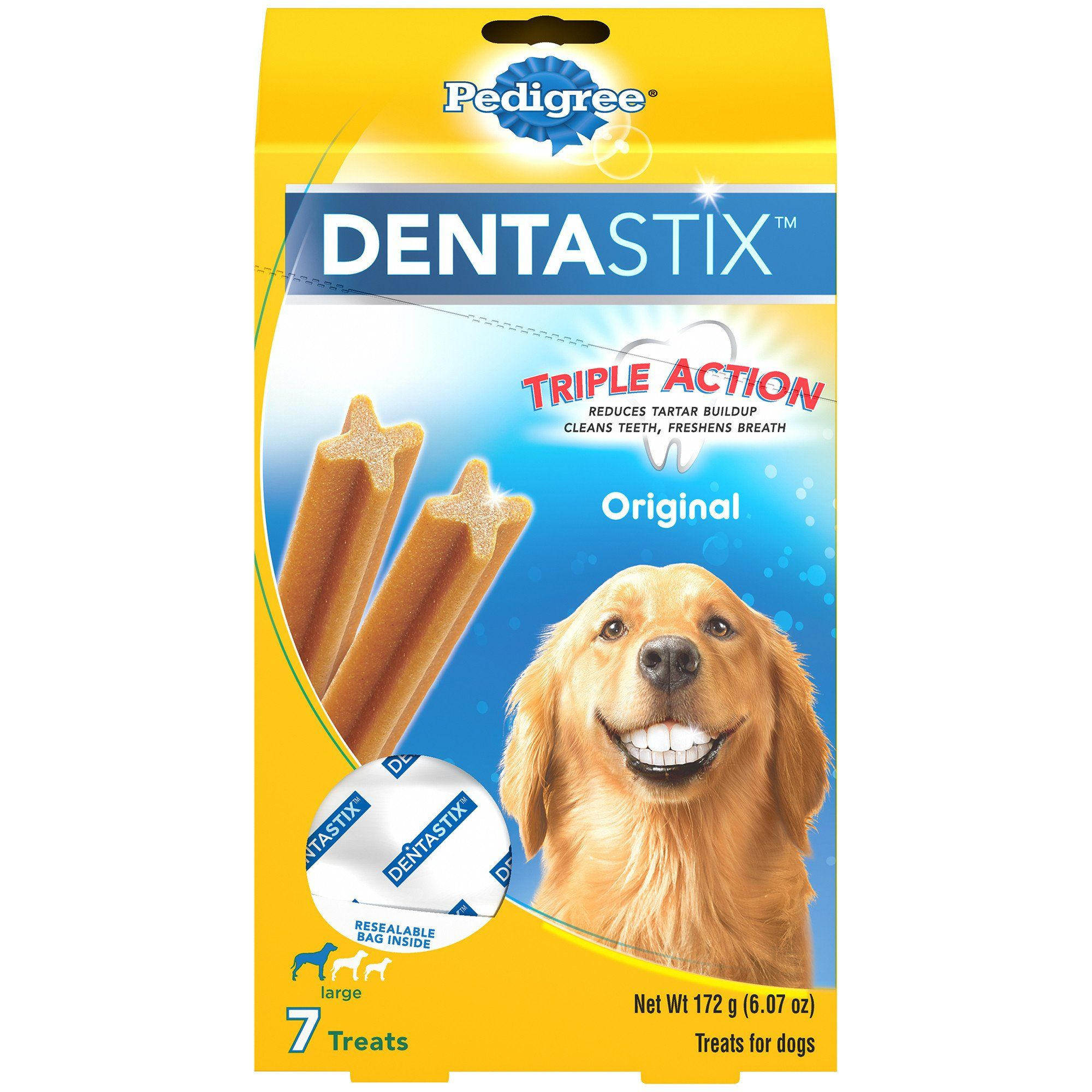 Pedigree Dentastix Original Large Dog Treats 7 Count 6 07 Oz