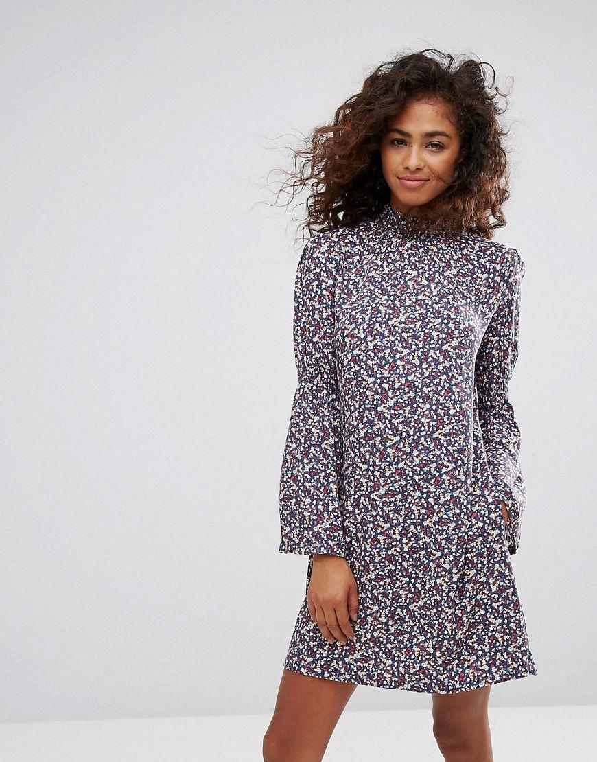 Flare Sleeve Floral Ditsy Dress - Multi Esprit Bj31EdoU