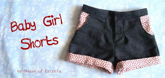 **Baby Girl Shorts Tutorial**     ~~ Super cute, although they look a little complicated ~~