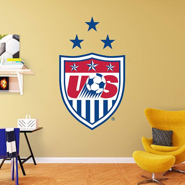 US Women\'s Soccer Logo Wall Decal | Shop Fathead® for Women\'s ...
