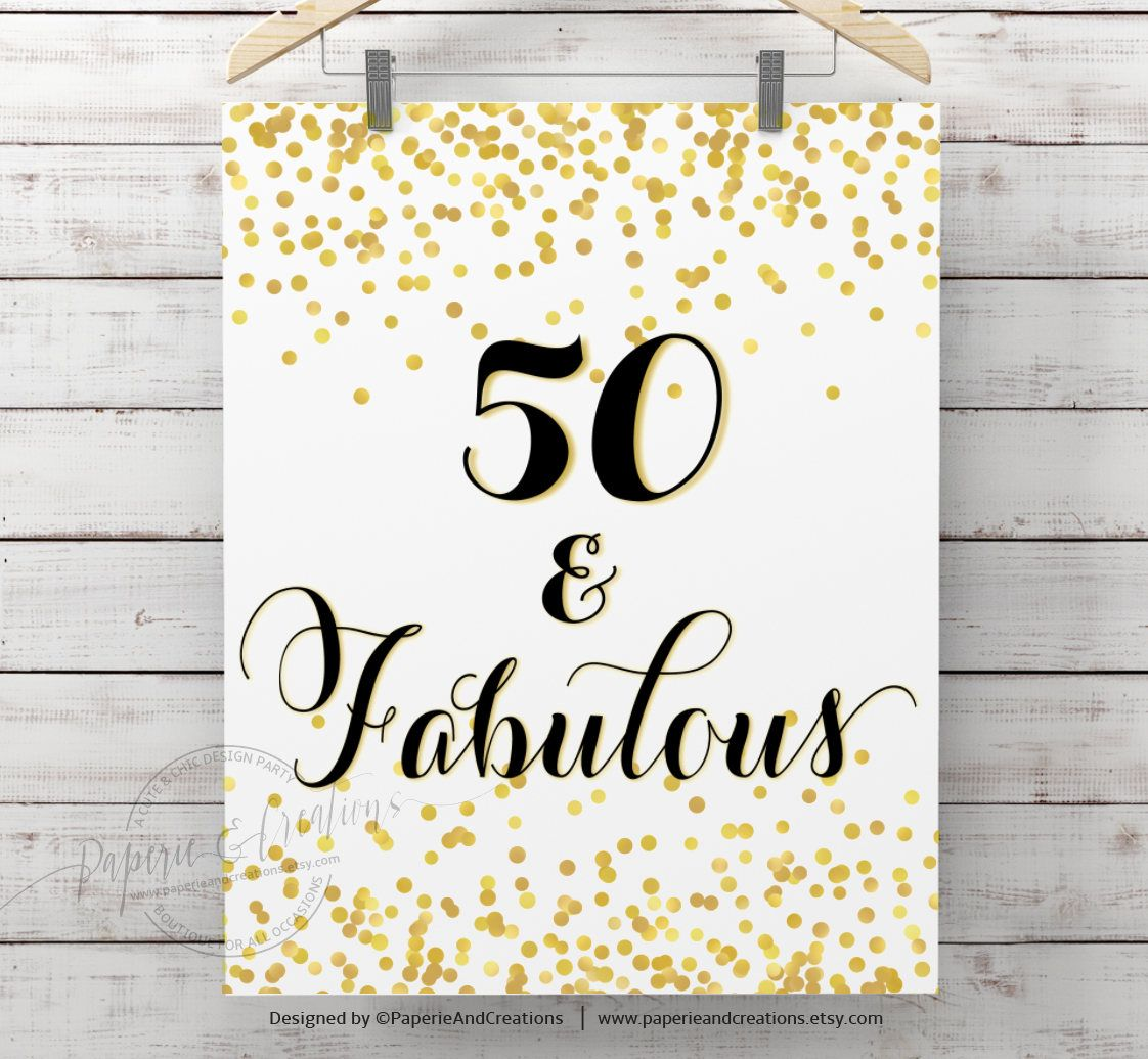 50 Abd Fabulou: 50 And Fabulous