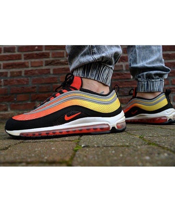 Nike Air Max 97 Sunset Team Orange Black Trainers Outlet UK