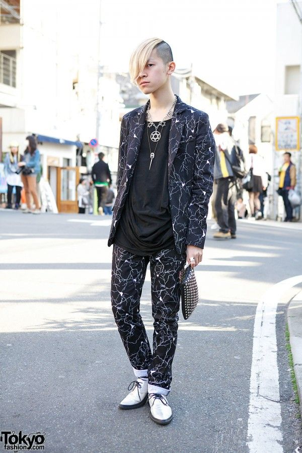 19 year old yutty works for the cool japanese fashion brand monomania his outfit features lots. Black Bedroom Furniture Sets. Home Design Ideas
