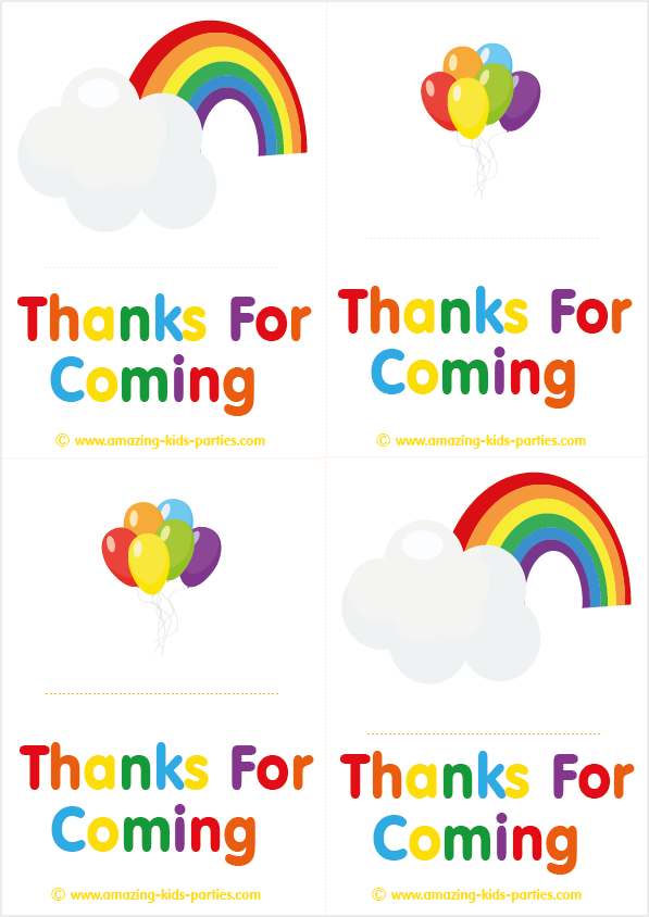 FREE Rainbow Thank You Cards & Notes at http://www.amazing-kids ...
