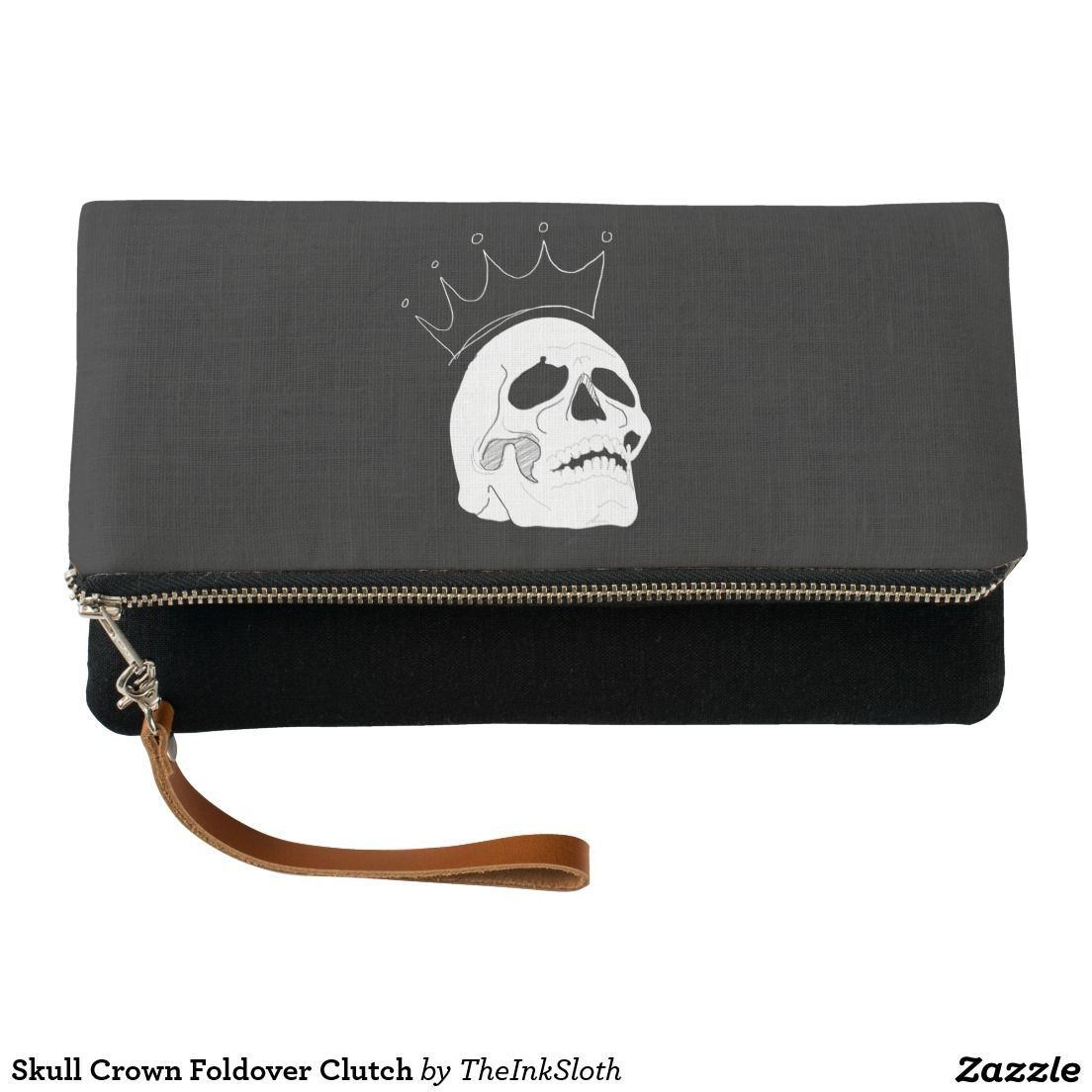 #Skull #Crown #Foldover #Clutch #bag #accessories