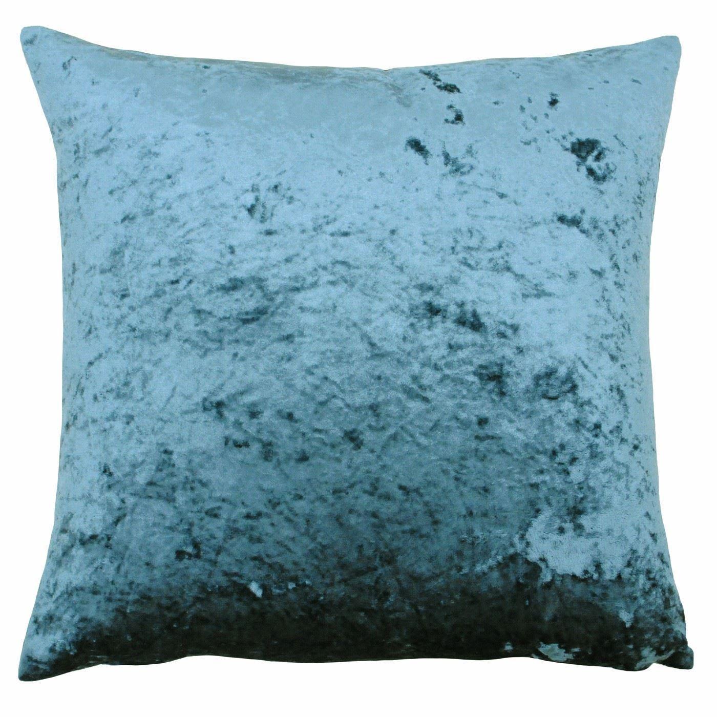 Filled deep pile crushed velvet teal soft