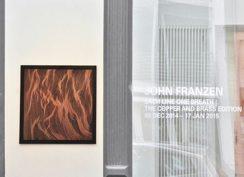Each Line One Breath,  edition on copper and brass - John Franzen. Artists on tumblr