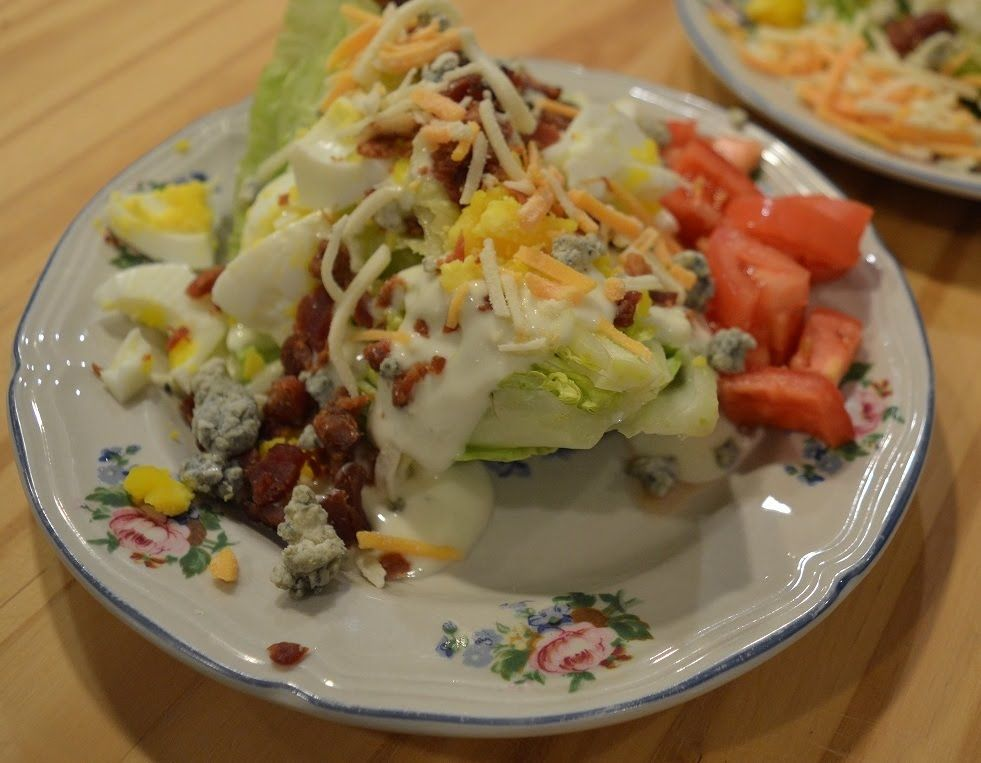 Bacon Bleu Cheese Wedge Salad The Hillbilly Kitchen