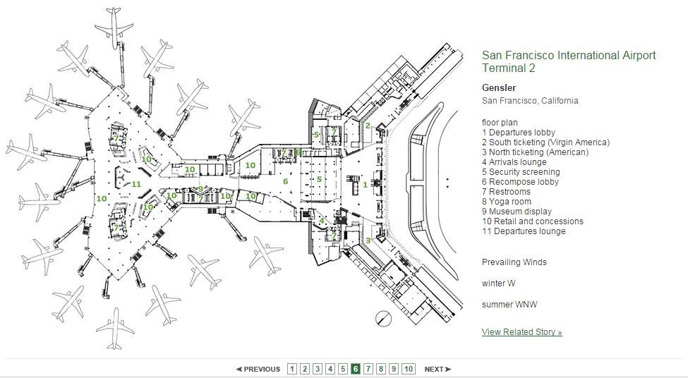 San Francisco International Airport Terminal 2 Architectural