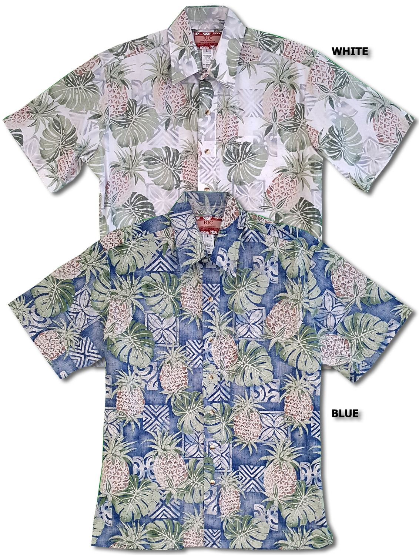 bc952075e Pineapple Monstera Reverse Print Aloha Shirt   Tiki Stuff in 2019 ...