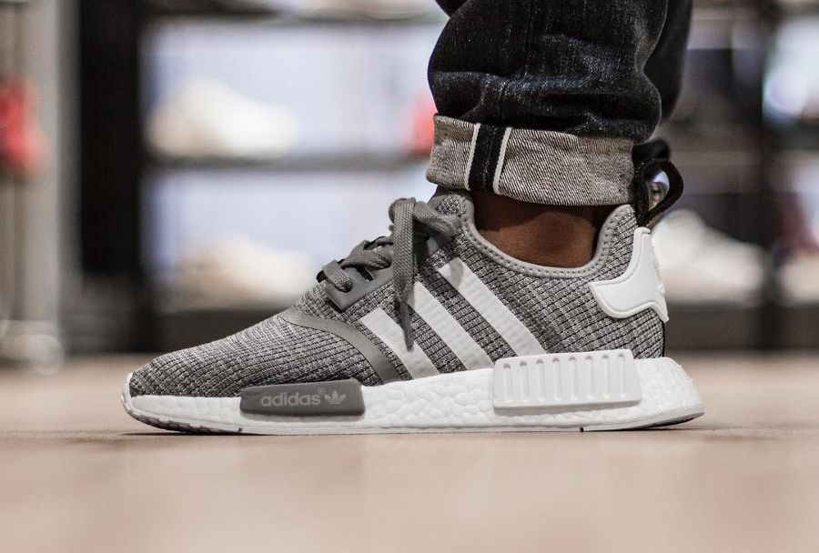 61094afcfe2 Adidas NMD R1  Heather Solid Grey