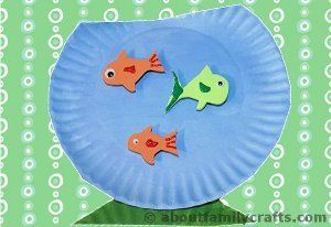 Fish Bowl Paper Plate Craft | AllFreeKidsCrafts.com