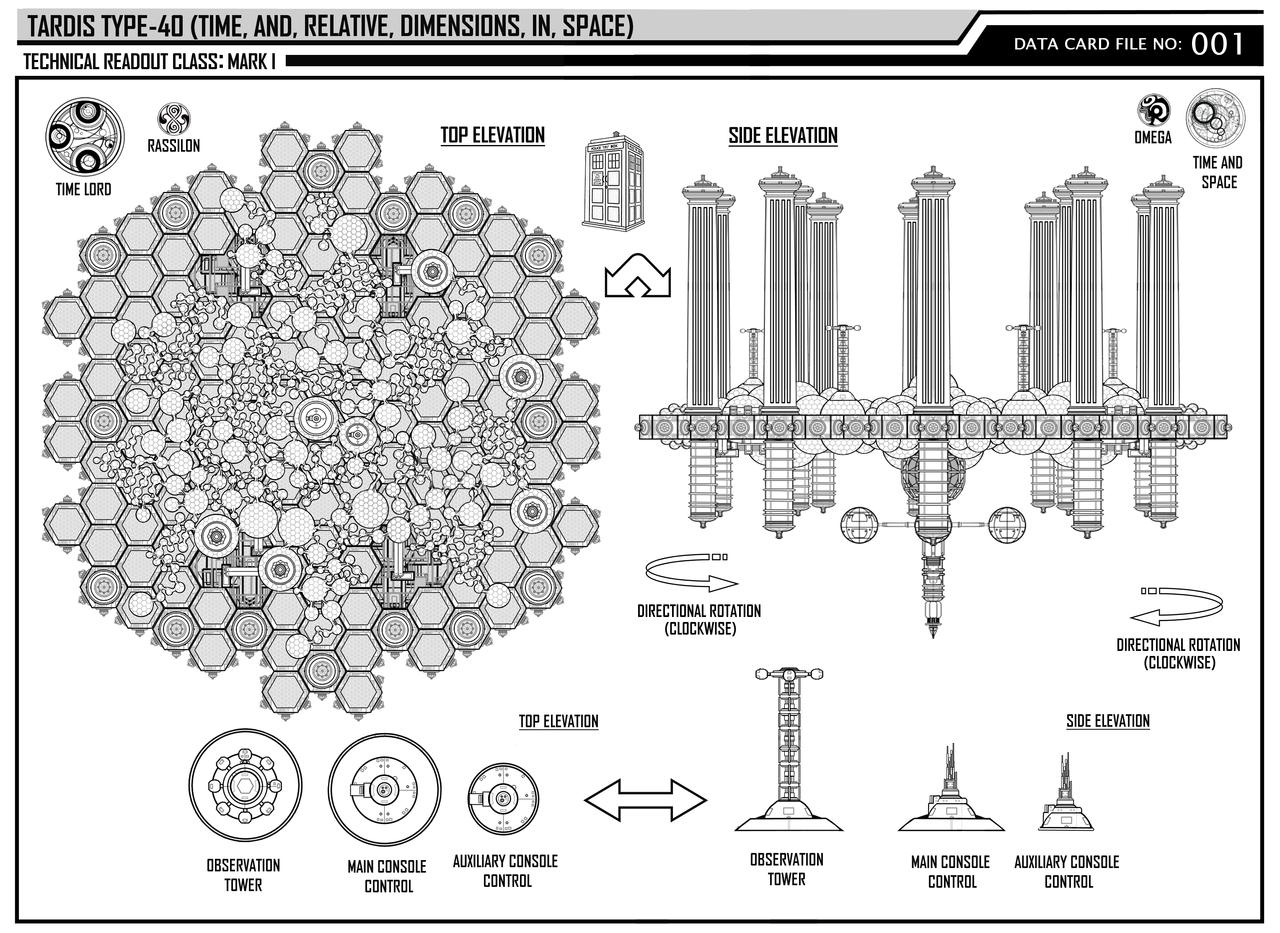 One Fan Concept Of Tardis Interior Plan Tardis Type 40