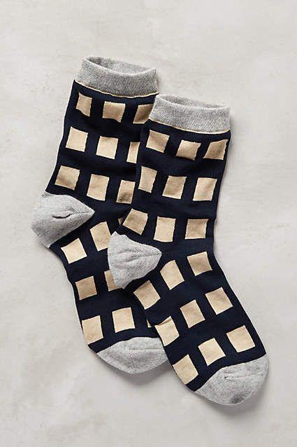 Gridwork Socks
