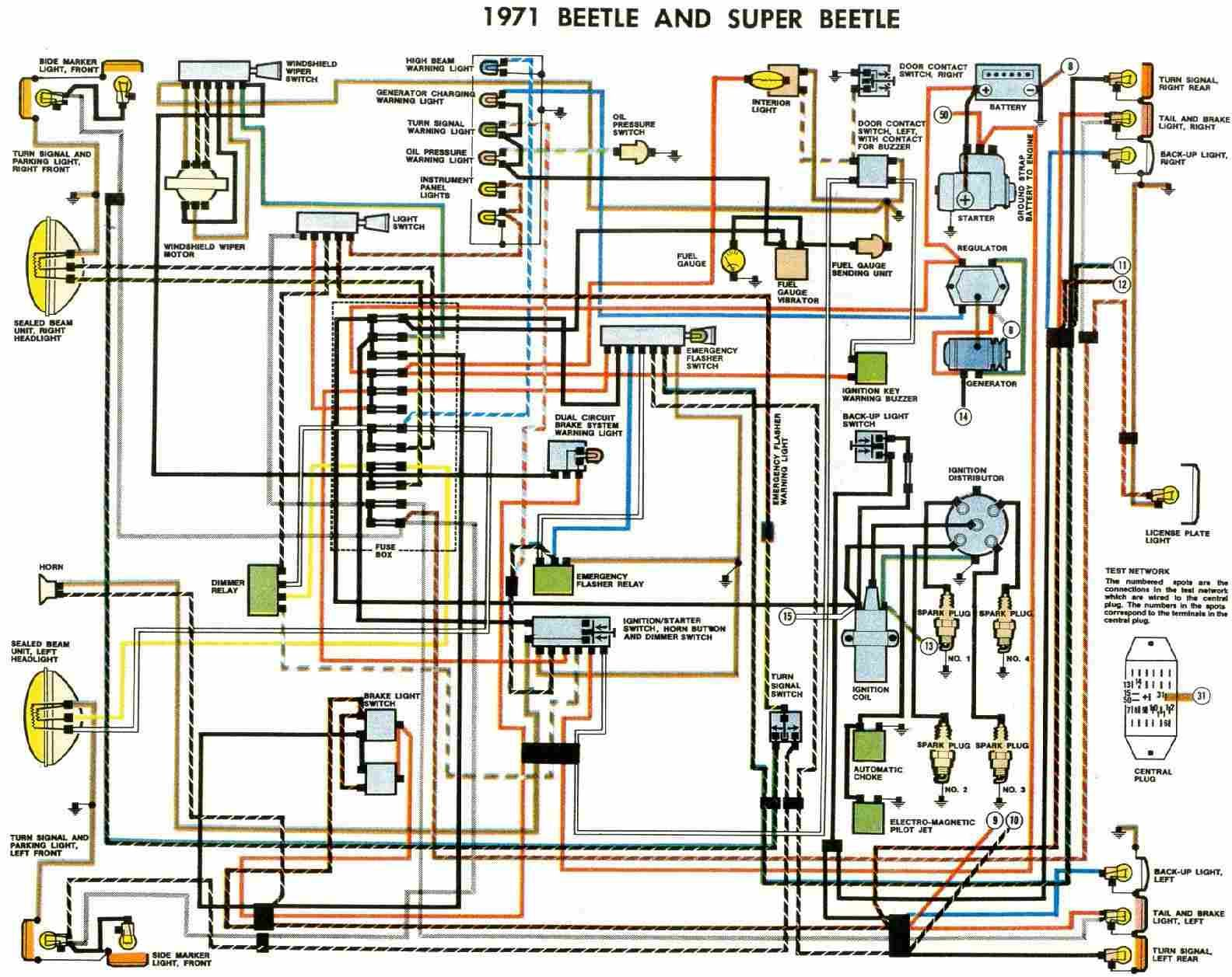 Vw Beetle Wiring Such A Simple Car Vw Super Beetle Vw Beetles Electrical Wiring Diagram