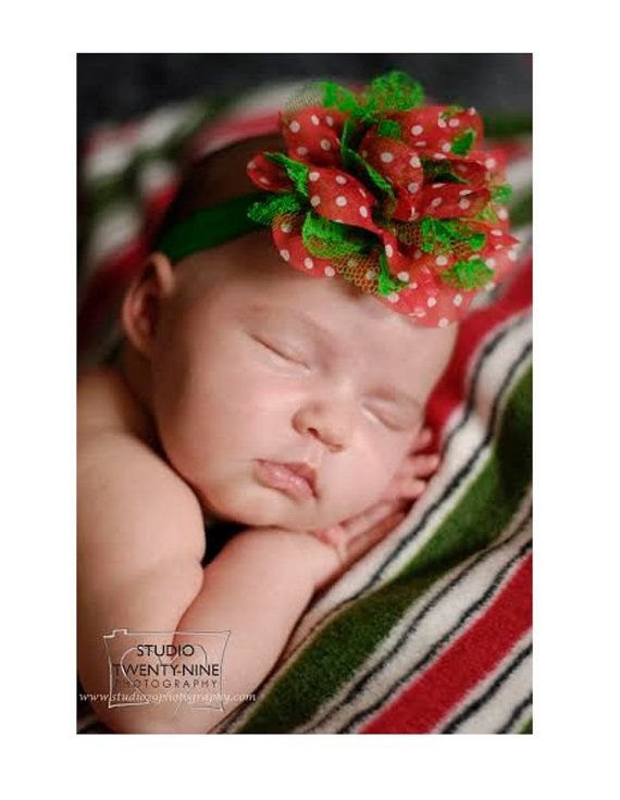 Christmas Headbands For Babies.Pick 1 Christmas Headbands Red Baby Headband Newborn