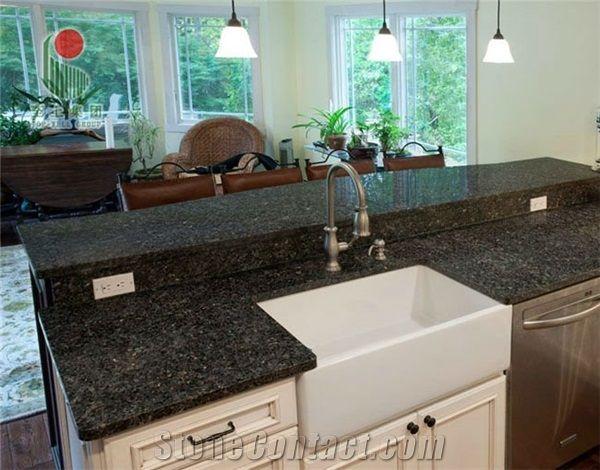 emerald pearl green granite countertop kitchens pinterest