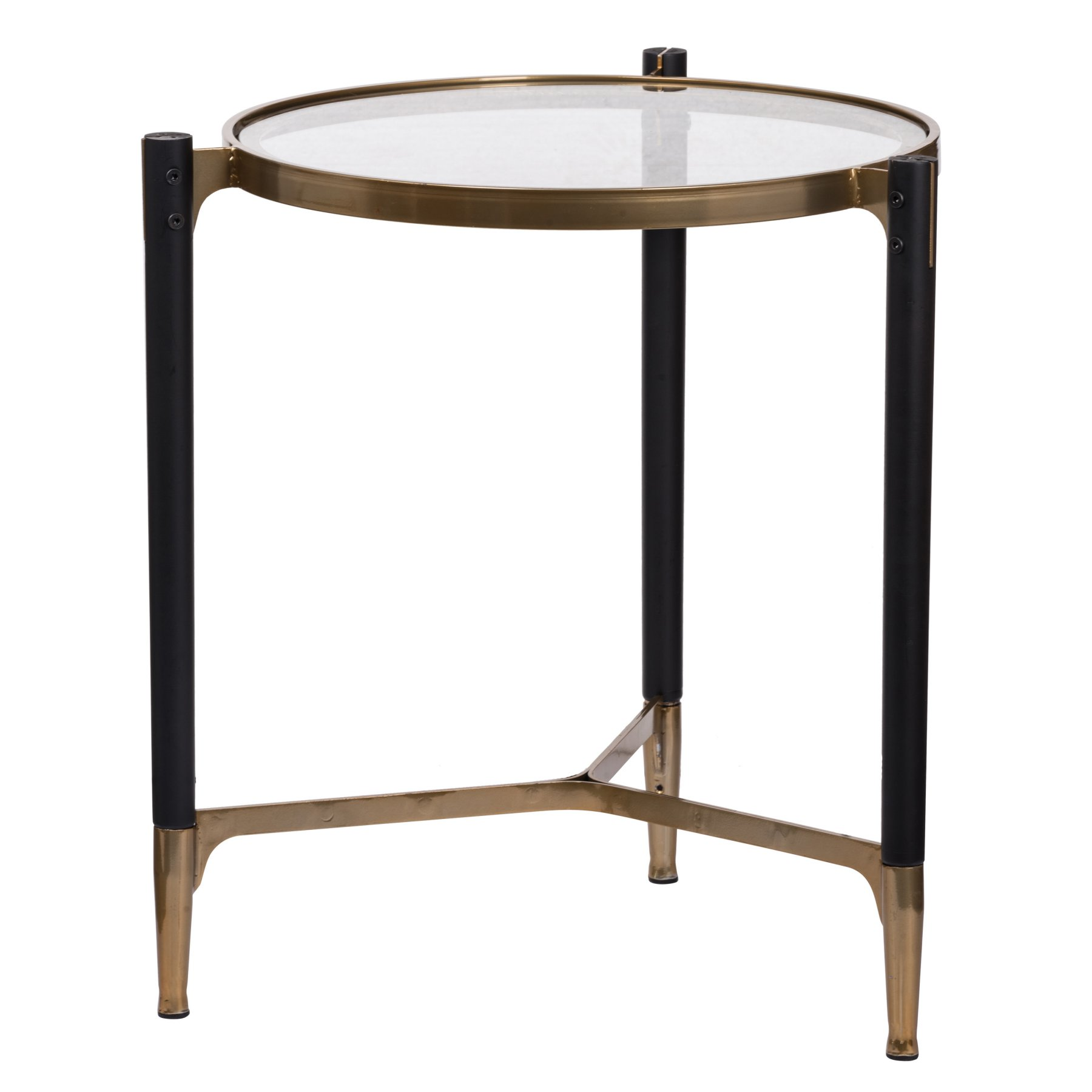 A B Home Park View Round Occasional Table Table Black Side