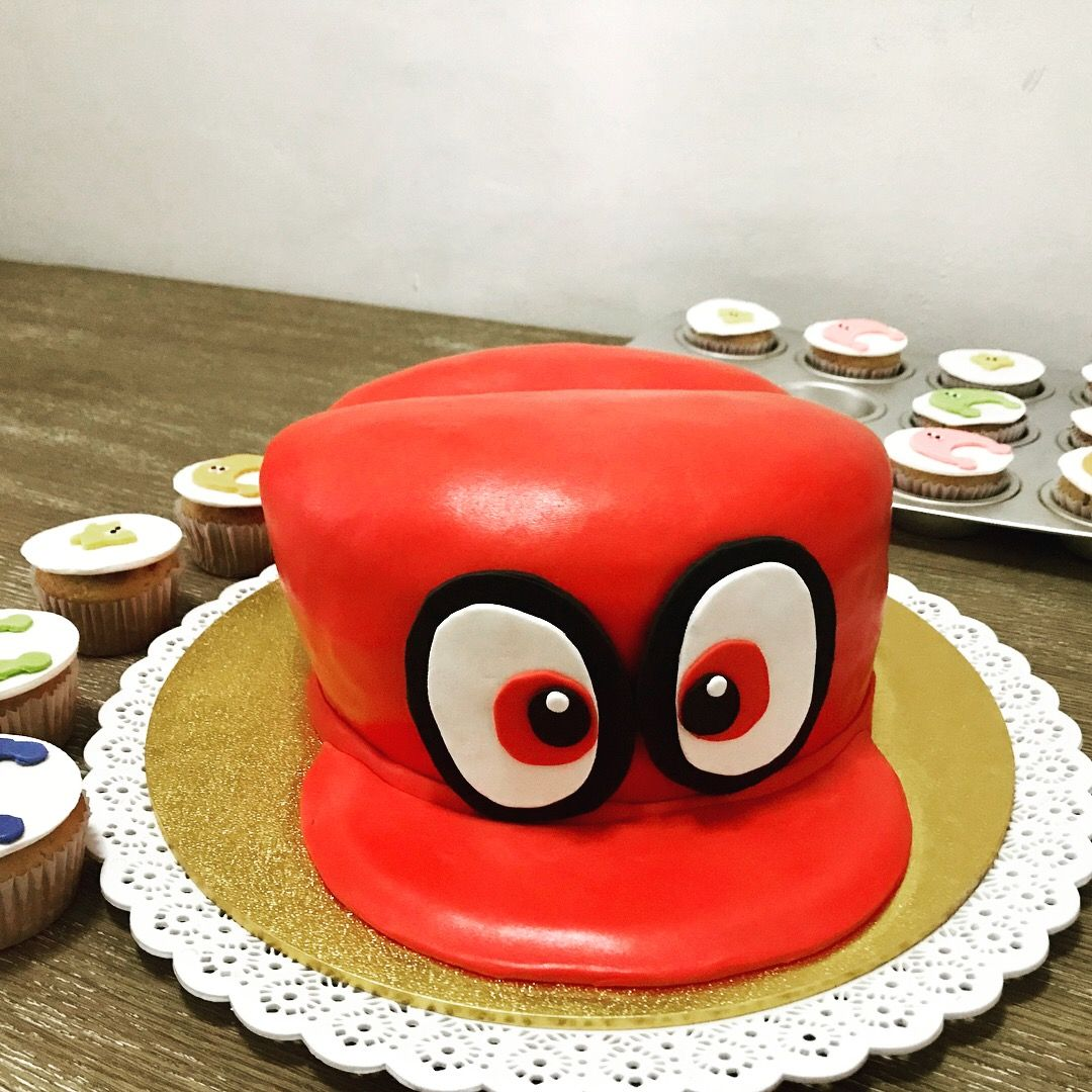 Mario Odyssey Cappy Cake Fiesta De Sonic Disenos De Tortas Cumpleanos