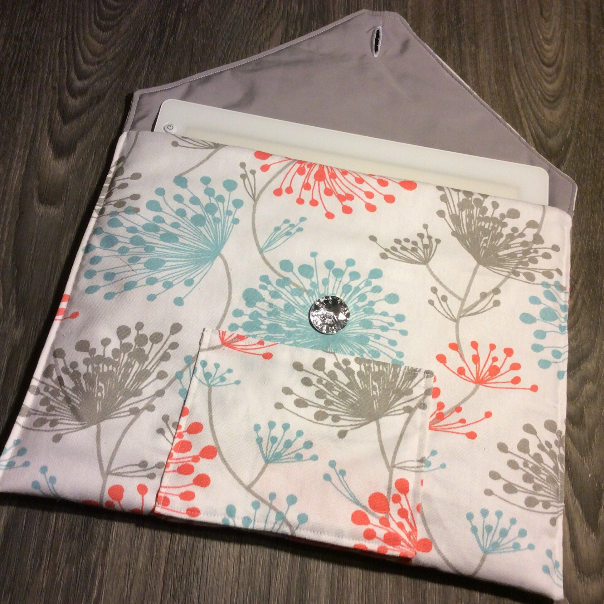 Excited To Share The Latest Addition To My Etsy Shop Cricut Bright Pad Quilted Cover Holder Case Blue Coral And Gray Dandeli Quilt Cover Cover Padded Case