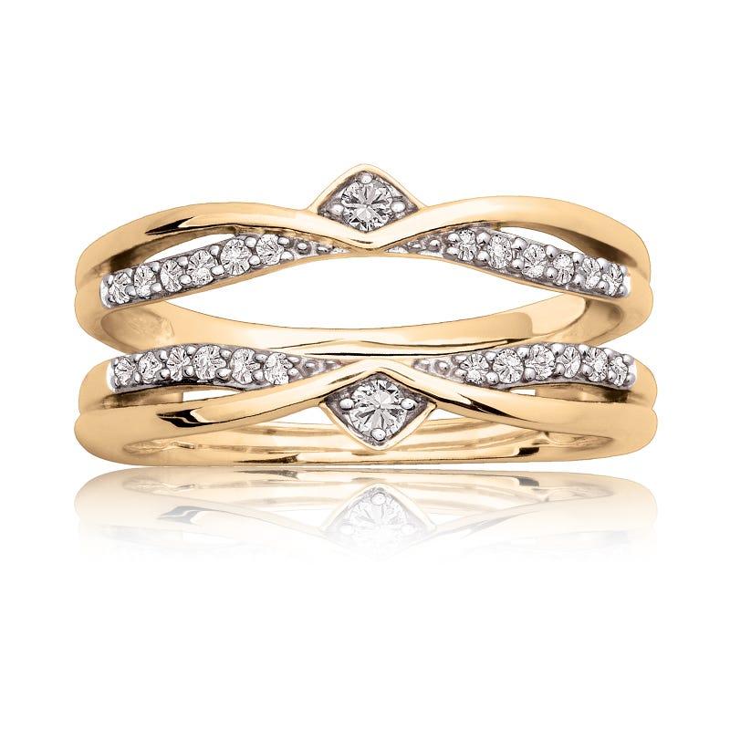 Diamond Ring Enhancer Wrap 1/5ctw in 14k Yellow Gold