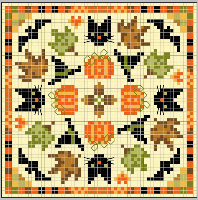 gazette94 grille gratuite Cross-Stitch Pinterest Cross - halloween design