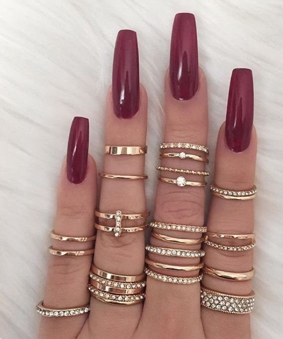 Red long skinny acrylic | Nails | Pinterest | Skinny, Acrylics and ...