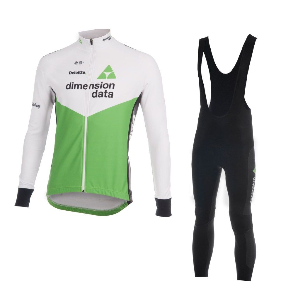 cea1e106a winter fleece 2018 pro team green cycling jersey sets mens warmer bike  cloth jacket MTB Ropa Ciclismo Bicycle maillot gel pad