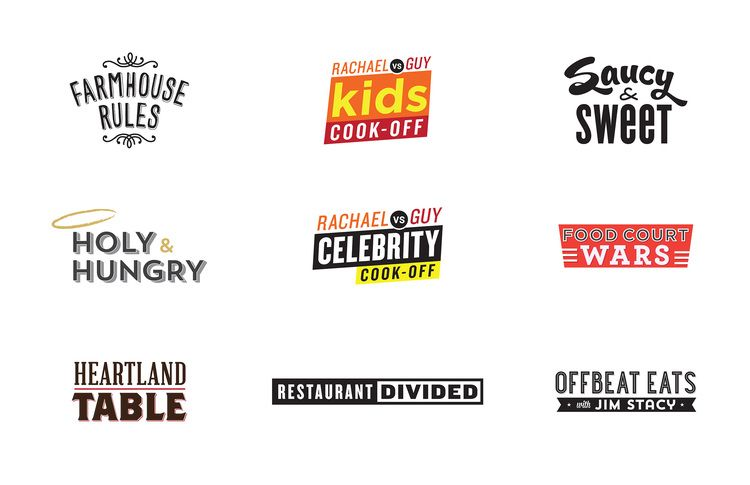 Food Network Various Show Logos My Design Portfolio Pinterest
