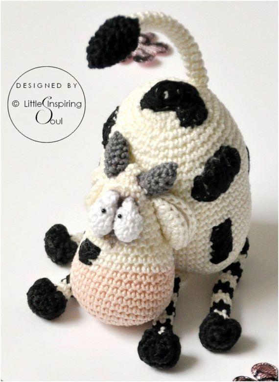 meuh-meuh the cow - PDF digital crochet pattern | Pelo | Pinterest ...