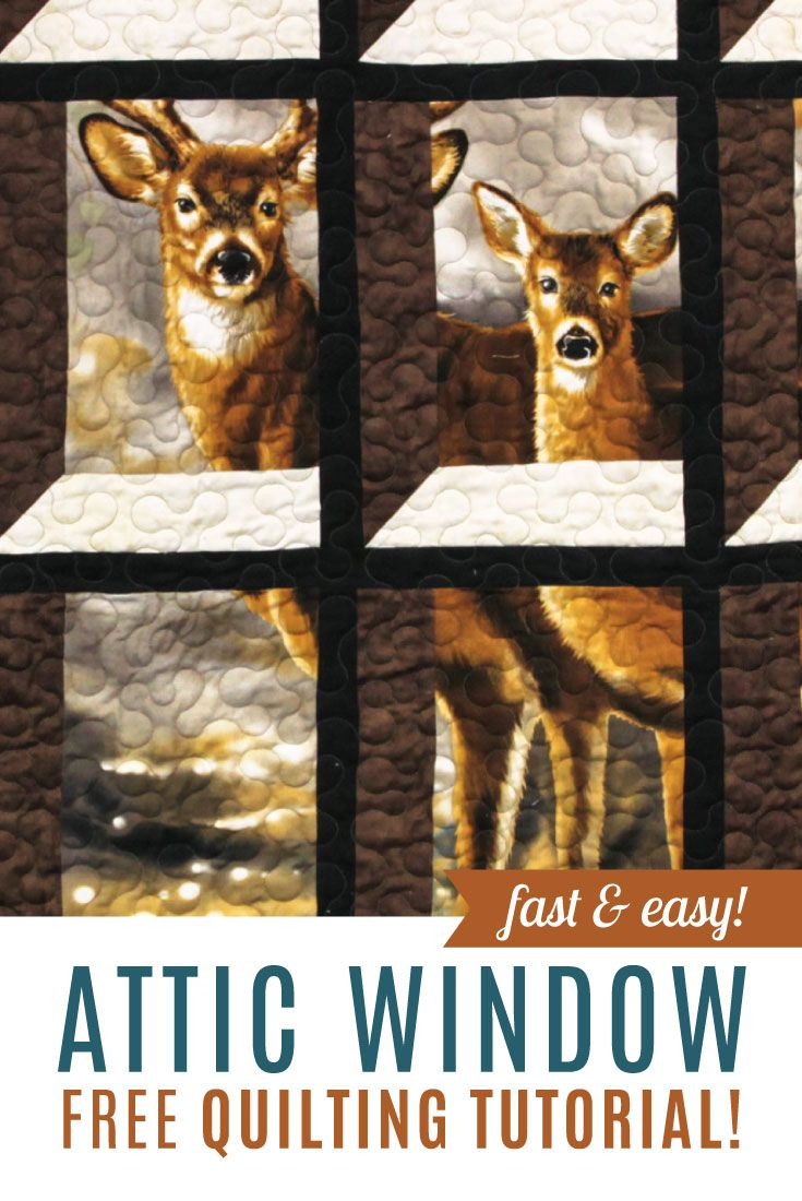 Learn how to make an Attic Window Quilt featuring panels and large ... : through the window quilt pattern - Adamdwight.com