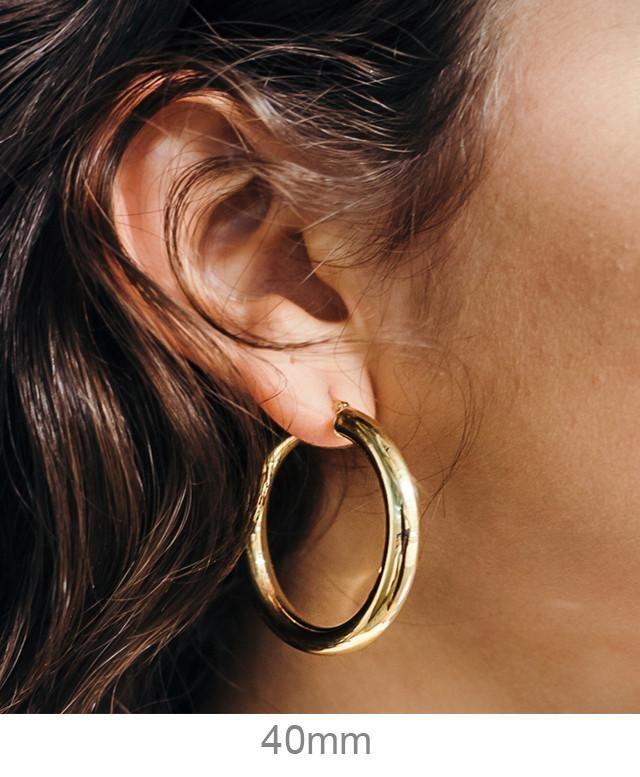 14k Yellow Gold Trendy Lightweight Hoop Earrings