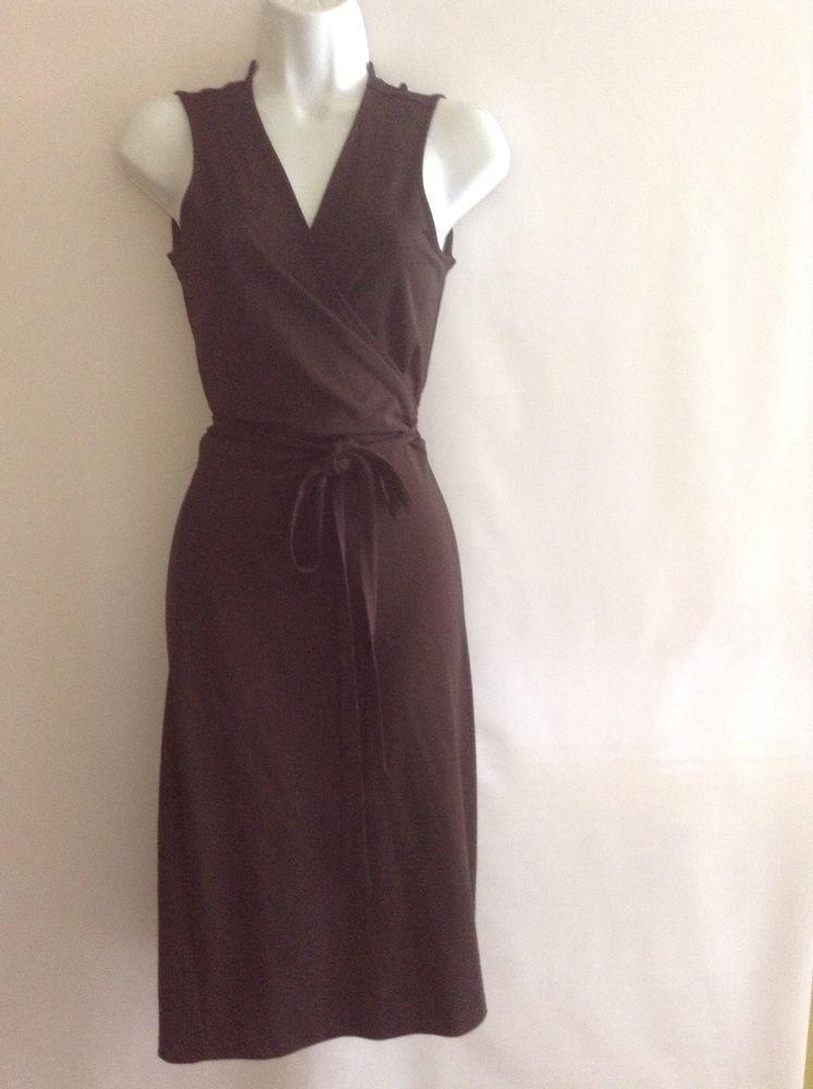 Calvin Klein Brown Complete Wrap Stretch Dress Size XS  #CalvinKlein #WrapDress