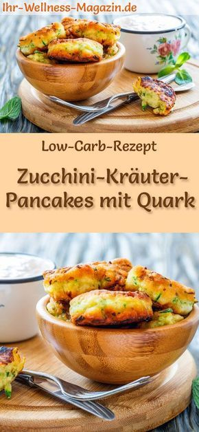 Photo of Low carb zucchini herb pancakes with curd cheese – hearty pancake recipe