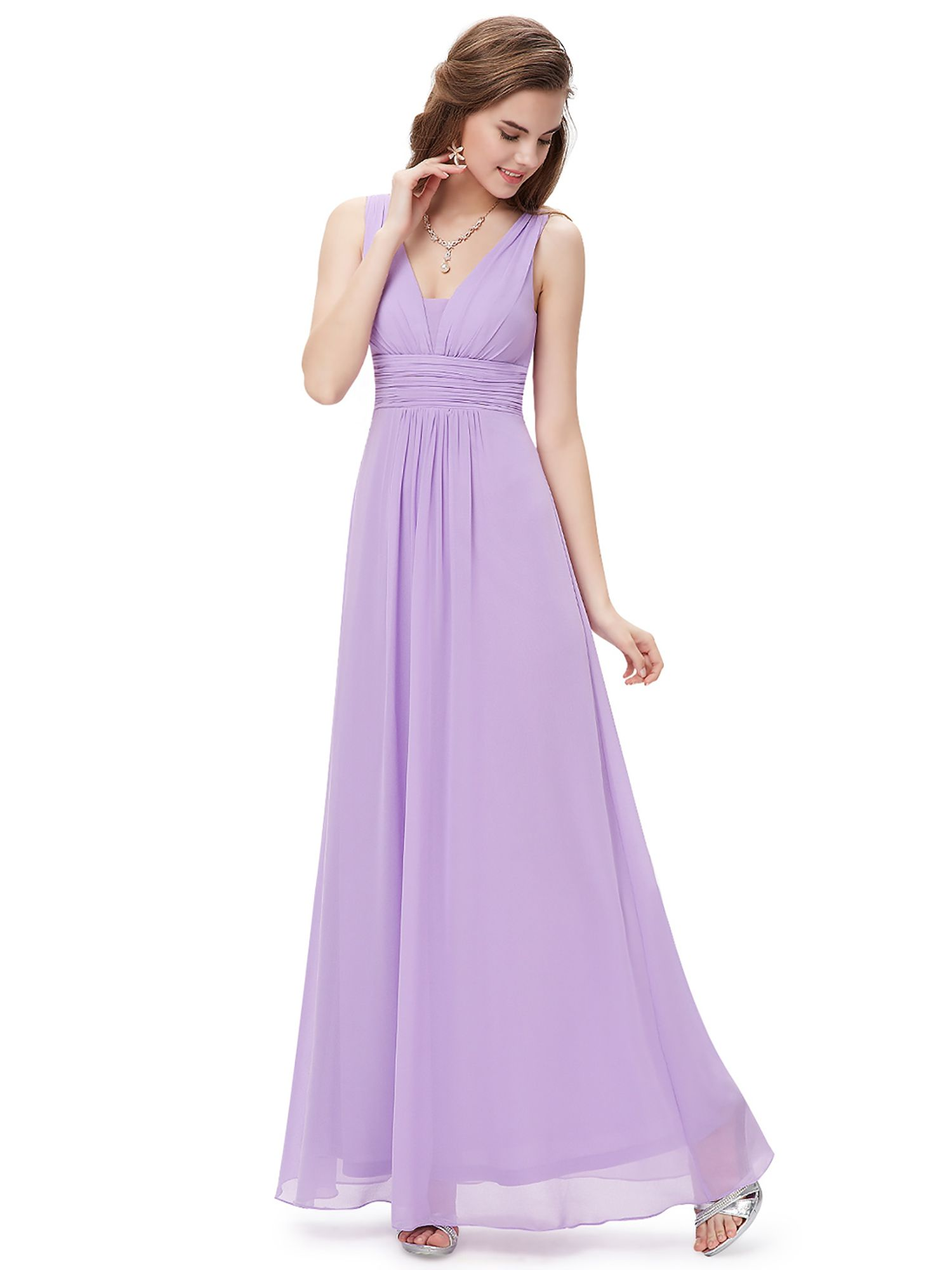 c81a7c575e3 Ever-Pretty Women s Elegant Long V-Neck Evening Party Maxi Dress Prom Gown  Bridesmaid