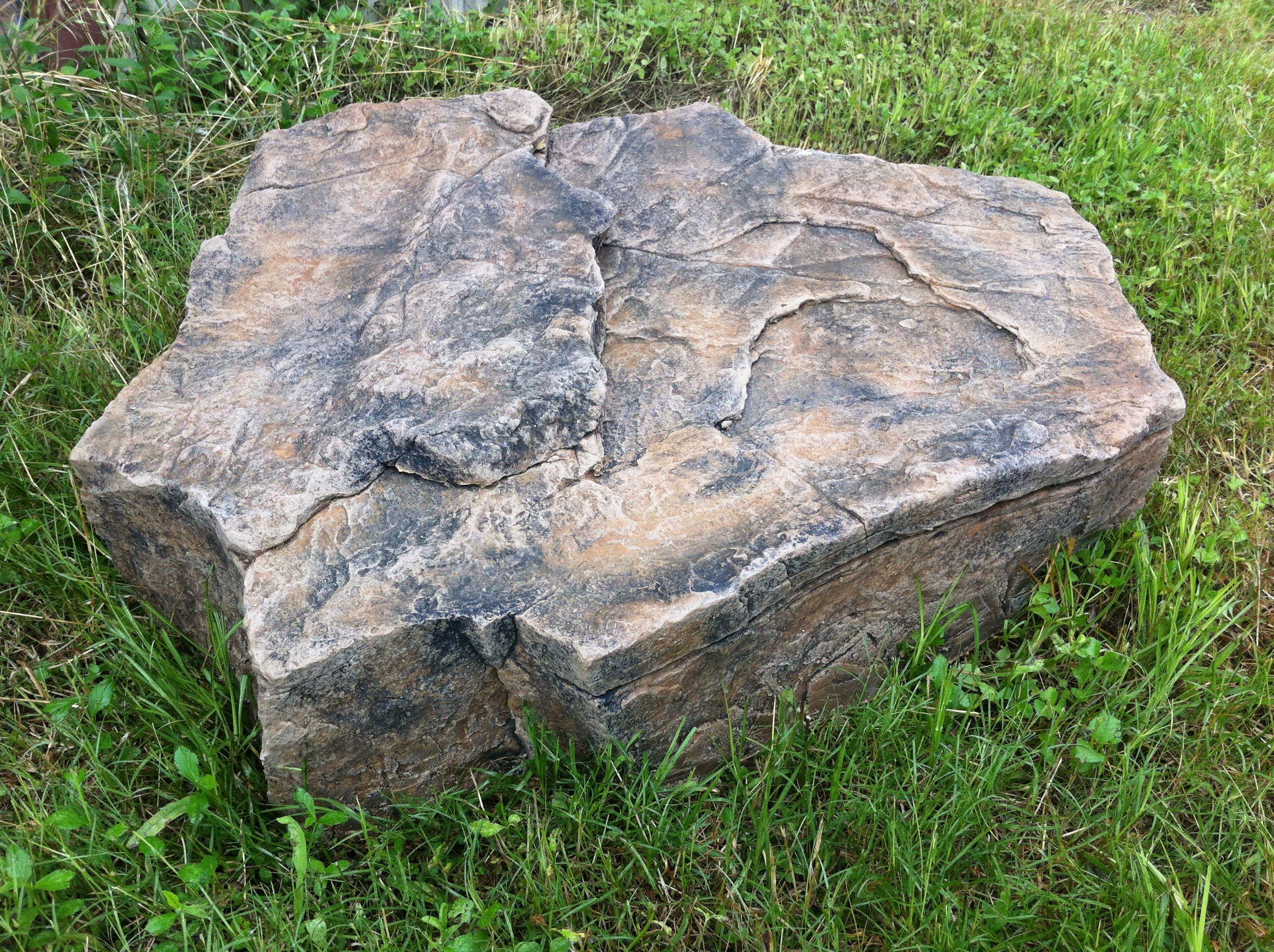 fake rock stepping shown