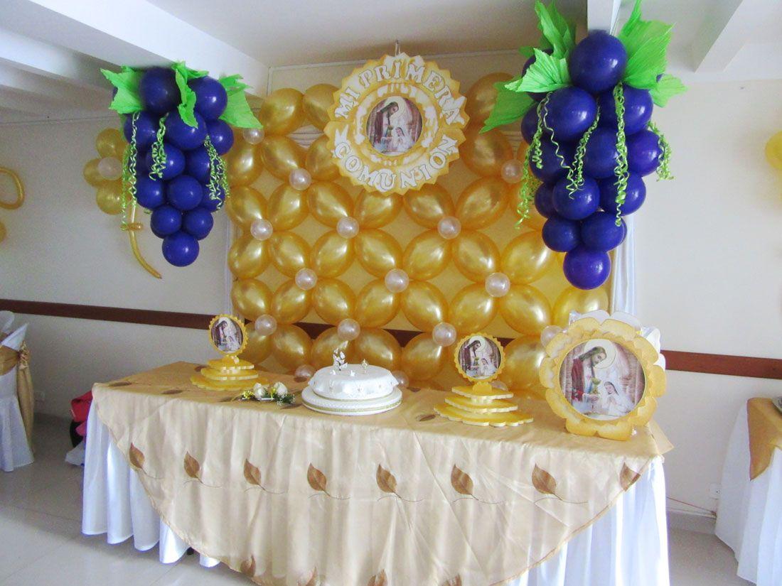 Sal n de eventos la merced sal n de eventos primera - Decoracion fiesta comunion ...
