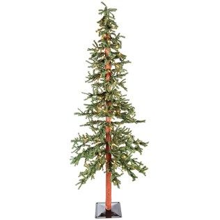 7 Green Alpine Christmas Tree With Lights Shop Hobby