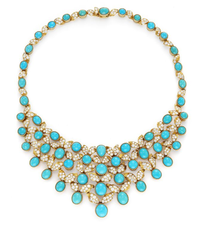 Cartier A Turquoise And Diamond Necklace 1stdibs Com Turquoise Jewelry Beautiful Necklaces Turquoise Stone Jewelry
