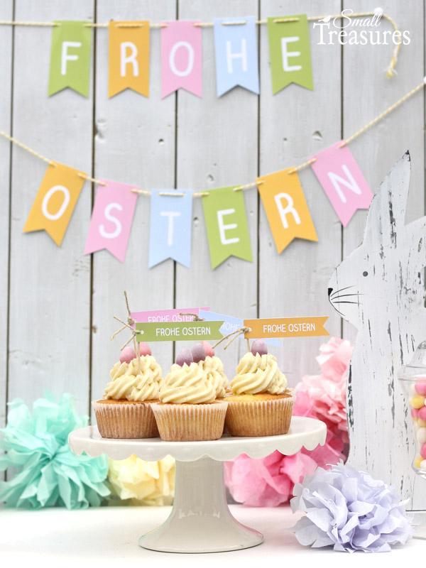 Frohe Ostern Girlande Als Gratis Download Spring Easter Ostern