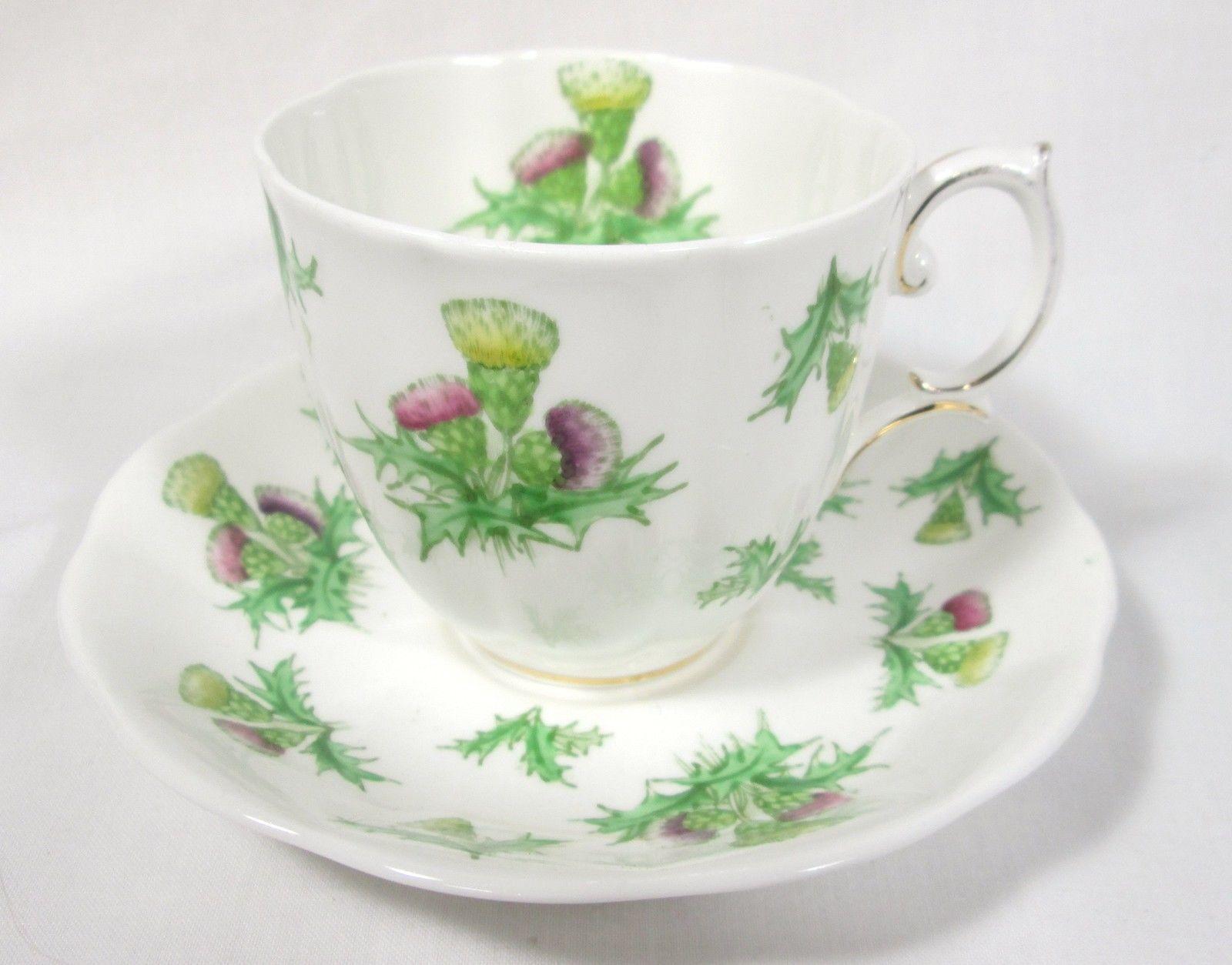 "Beautiful Royal Albert Cup Saucer ""Highland Thistle"" Bone China   eBay"