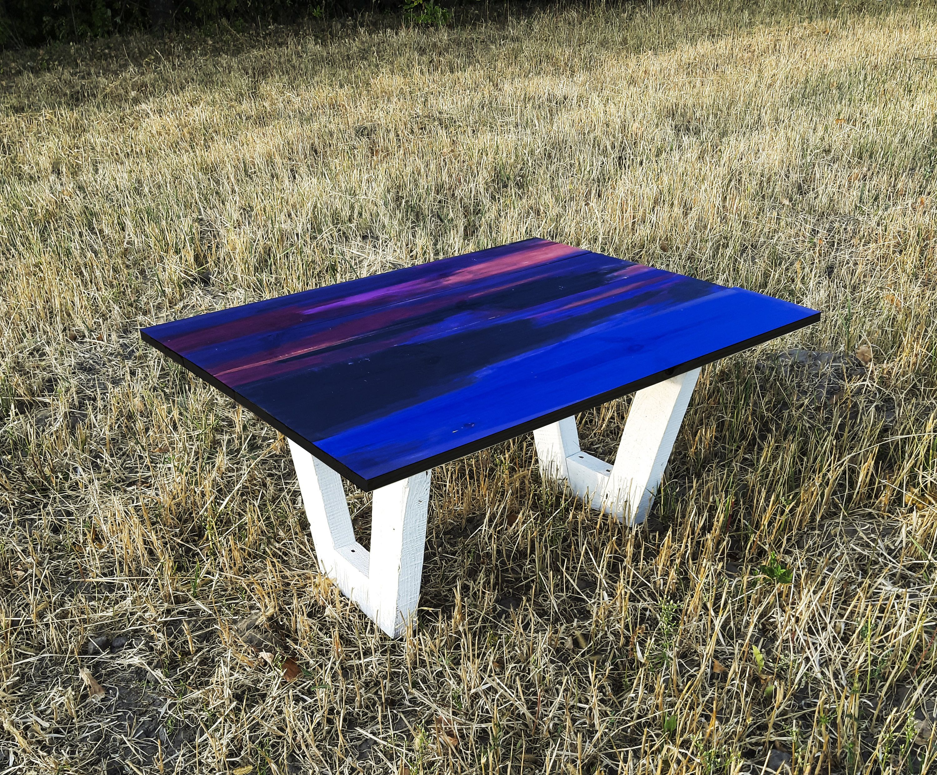 Colorful coffee table simply wood table diy woodwork