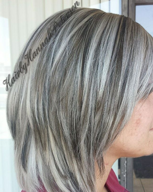 lowlights gray hair momma