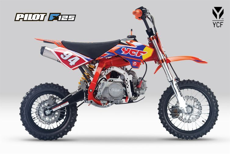 Ycf Limited Edition Orange Pilot F125 Motocross Moped Honda