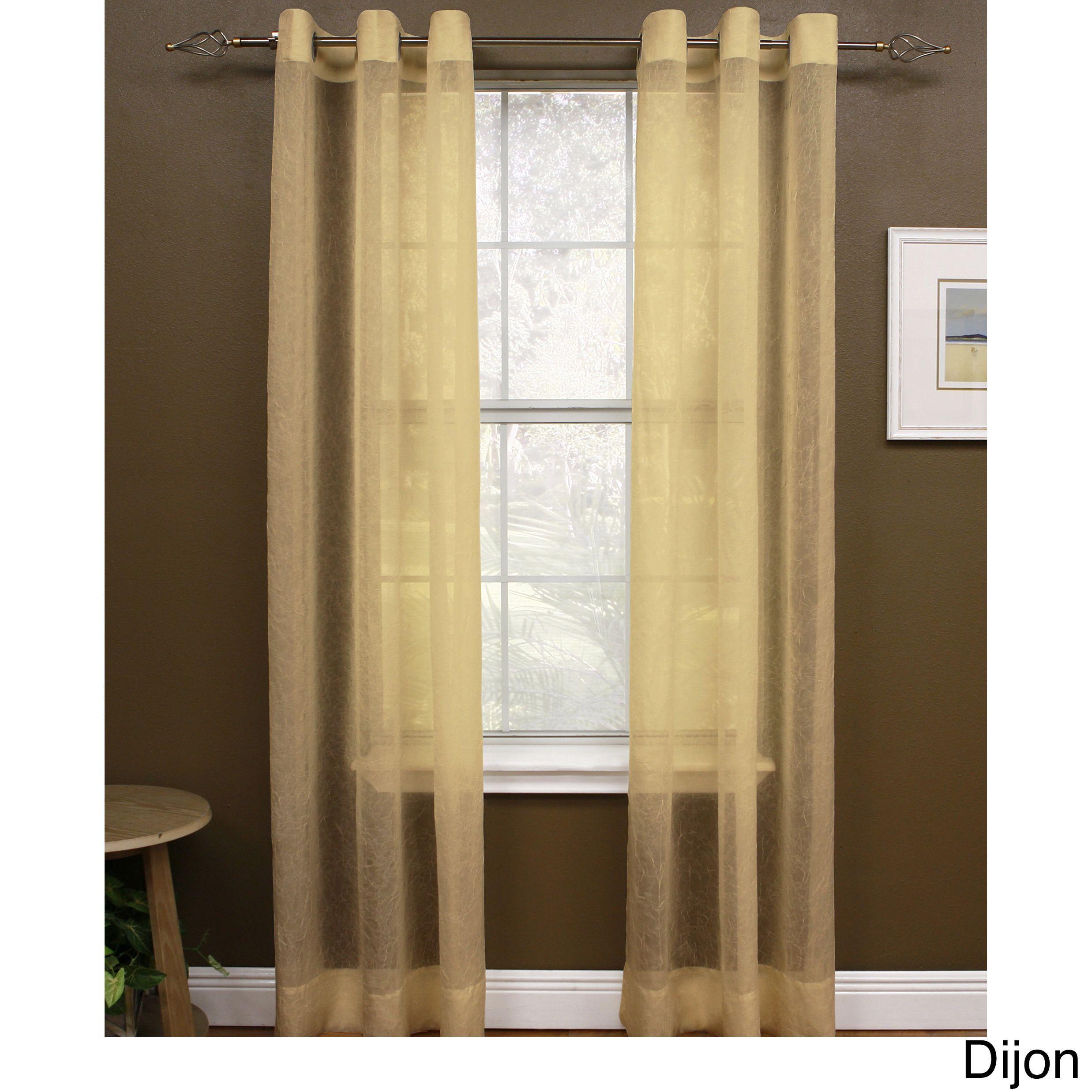 Miller Curtains 95 Inch Preston Grommet Sheer Panel 48 X 95 Brown Curtains 1 Panel Curtains Insulated Curtains