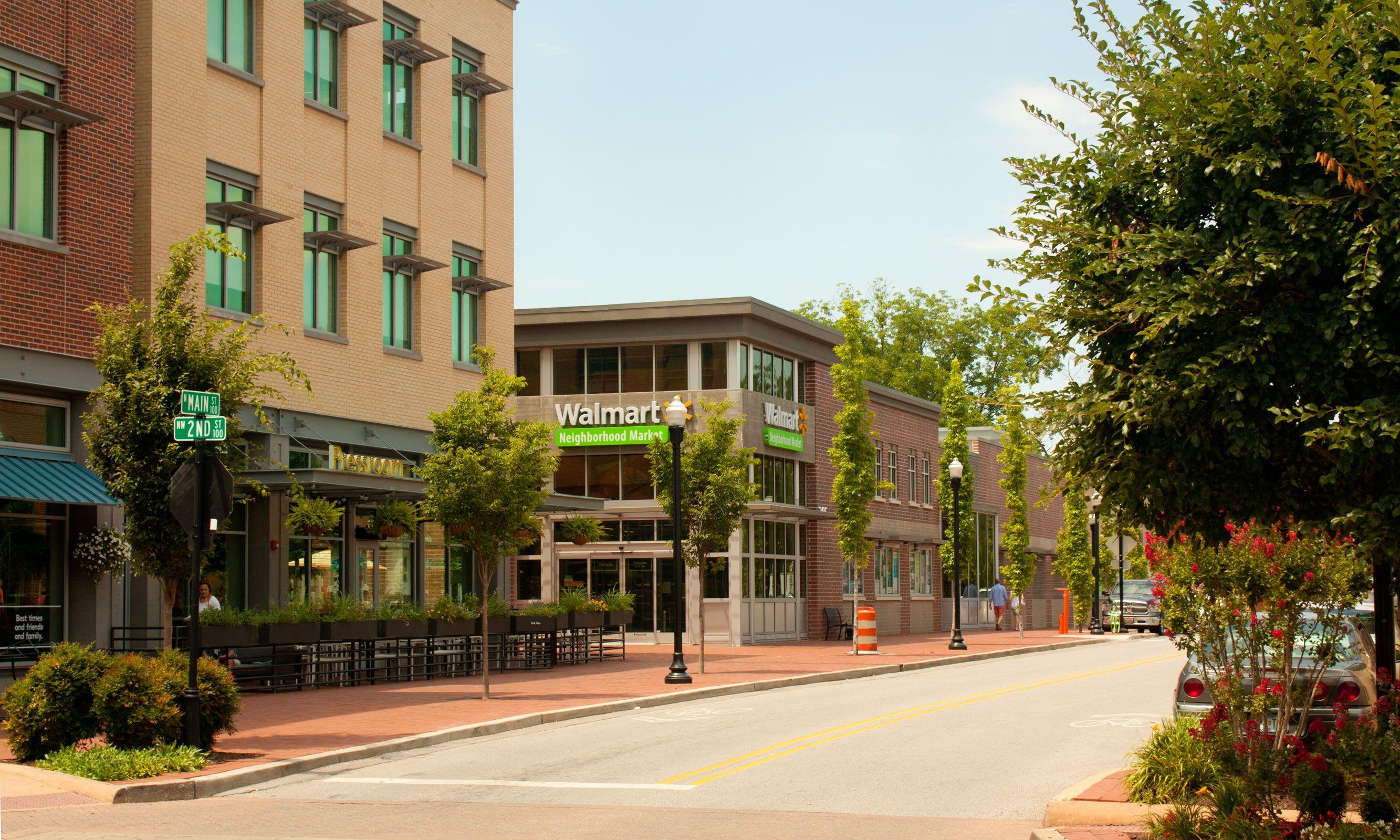 A Walmart Neighborhood Market located in downtown Bentonville ...