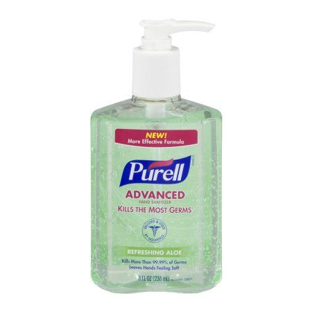 Purell Instant Hand Sanitizer With Pump Aloe 8 Ounce